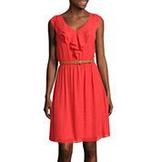 Alyx® Sleeveless Ruffle-Front Belted Dress