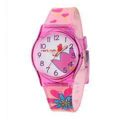 Red Balloon™ Girls Pink Flower Bracelet Watch