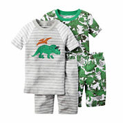 Carter's® 4-pc. Dino Pajama Set - Toddler Boys 2t-5t