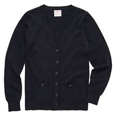 IZOD® Long-Sleeve Boyfriend Cardigan –-Girls 7-16 and Plus