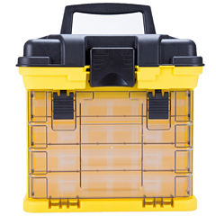 Stalwart™ Parts & Crafts Rack-Style Toolbox with 4 Organizers