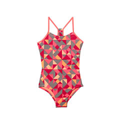Nike Geometric One Piece Swimsuit Big Kid Girls