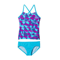 Nike Girls Logo Tankini Set - Big Kid