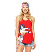 Wonder Woman Tank Top + Headband-Juniors