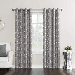Sun Zero Elda Blackout Grommet-Top Curtain Panel