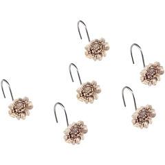 Queen Street® Bianca Damask Floral Shower Curtain Hooks