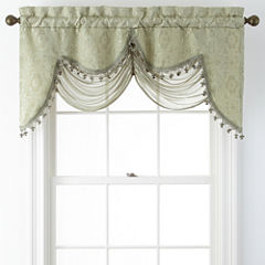 Portofino Scalloped Rod-Pocket Valance