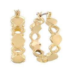 Liz Claiborne® Gold-Tone Hoop Earrings