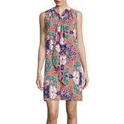 Self Esteem® Sleeveless Print Bow Dress