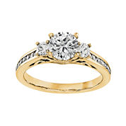 1 1/5 CT. T.W. Diamond 14K Yellow Gold 3-Stone Engagement Ring