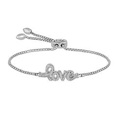 Rhythm and Muse Diamond Accent In Sterling Silver Love Bracelet