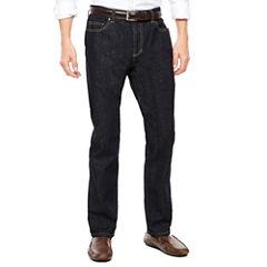 Claiborne® Rinse Denim Straight Leg Stretch Jeans