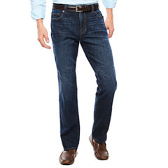 Claiborne® Dark Intense Straight Leg Stretch Jeans