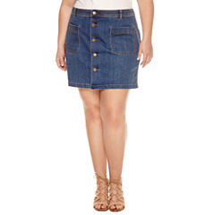 a.n.a Denim Skirt-Talls