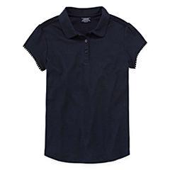 Izod Exclusive Short Sleeve Polo Shirt Girls