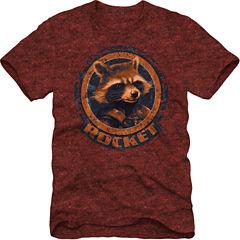 Rocket Short Sleeve Marvel Graphic T-Shirt
