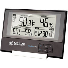 Meade Instruments TE256W Slim Line Personal Weather Station with Atomic Clock and Indoor/Outdoor Temperature and Humidity