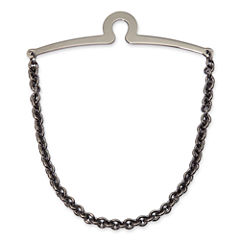 Gun Metal Cable Link Tie Chain