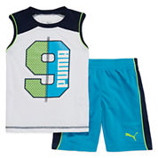 Puma® 2-pc. Muscle Tee with Shorts Set - Preschool Boys 4-7