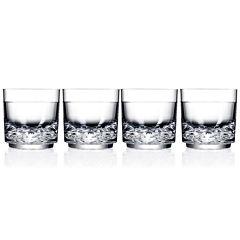 Drinique Unbreakable Elite Set of 4 Rocks Glasses