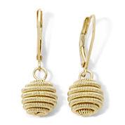 Monet® Gold-Tone Coiled Sphere Drop Earrings