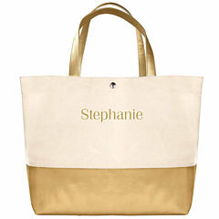 Cathy's Concepts Personalized Metalllic Colorblock Tote