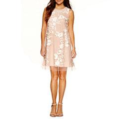 Studio 1 Sleeveless Embellished A-Line Dress-Petites