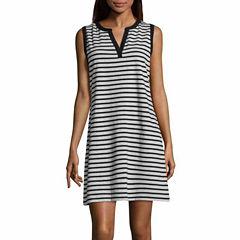 Liz Claiborne Sleeveless Sheath Dress-Talls
