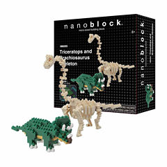 Ohio Art nanoblock® Animals Level 4 - Triceratopsand Brachiosaurus Skeleton: 290 PCs