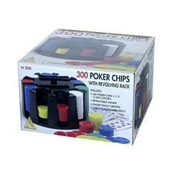 John N. Hansen Co. 300 Poker Chips with RevolvingRack