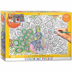 Eurographics Inc Color-Me Puzzle - Majestic Feathers: 300 Pcs