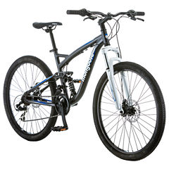 Mongoose Mens Full Suspension Mountain Bike