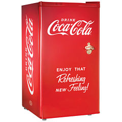 Nostalgia Coca-Cola Series RRF300SDBCOKE 3.2 CubicFoot Refrigerator with Freezer Compartment