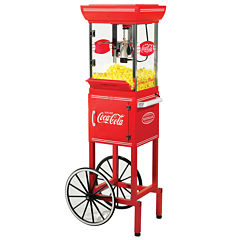 Nostalgia CCP399COKE 48-Inch Tall Coca-Cola 2.5-Ounce Kettle Popcorn Cart