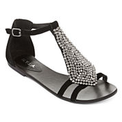 N.Y.L.A. Therow Studded T-Strap Sandals