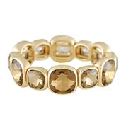 Monet® Brown Stone Gold-Tone Stretch Bracelet