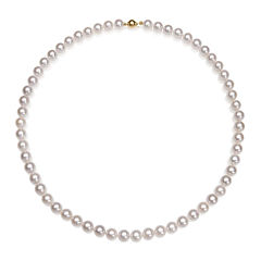 A Quality Cultured Akoya Pearl 14K Yellow Gold 18