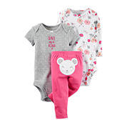 Carter's® 3-pc. Mouse Layette Set - Baby Girls newborn-24m