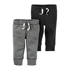 Carter's® 2-pk. Grey Stripe and Charcoal Pants - Baby Boys newborn-24m