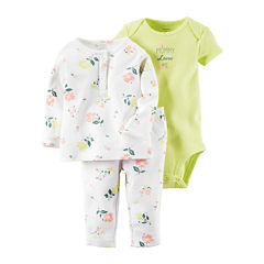 Carter's® 3-pc. Floral Layette Set - Baby Girls newborn-12m