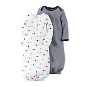 Carter's® 2-pk. Sport Gowns - Baby Boys one size  fits newborn