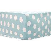 My Baby Sam Pixie Baby in Aqua Dot Crib Sheet