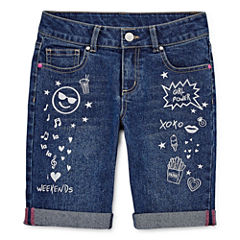 Total Girl Denim Bermuda Shorts - Big Kid Girls