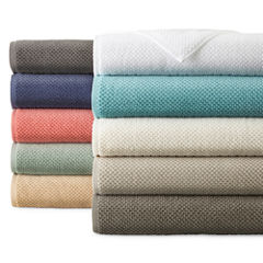 JCPenney Home™ Quick Dri Textured Solid Bath Towel Program