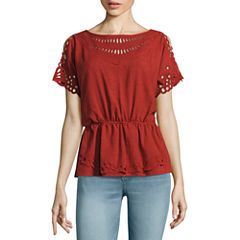 a.n.a Cutout Embroidery Top