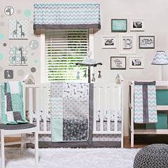 The Peanut Shell® 4-pc. Uptown Giraffe Crib Bedding Set