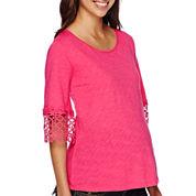 Maternity Crochet Knit Top