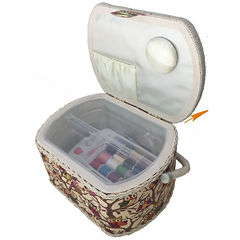Michley FS-096 Sewing Basket with 41-pc. Sewing Kit