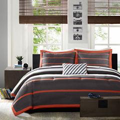 Mi Zone Jonah Striped Comforter Set