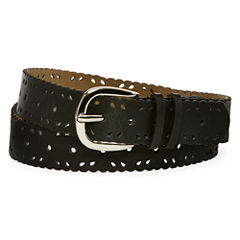 Relic® Black Scalloped Perforated Belt